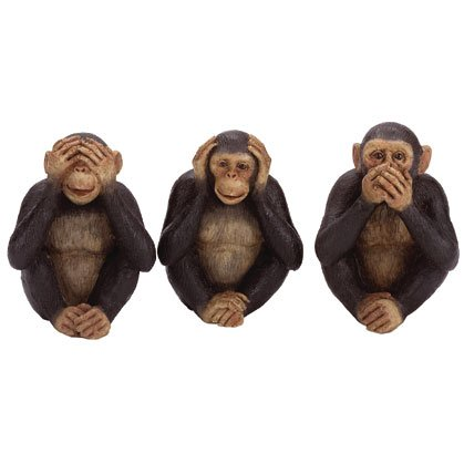 31655 Monkey Figurines See, Hear, Speak