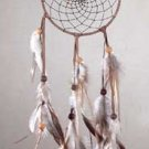 31683 Leather, Feather, and Bead Windcatcher