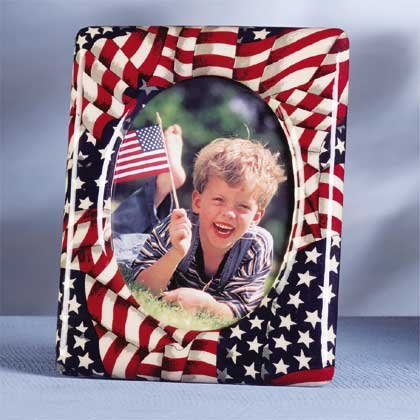 31769 Patchwork Picture Frame American Flag