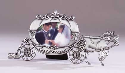 31821 Pewter Married Carriage Frame