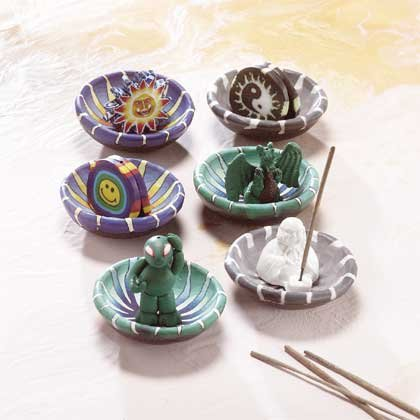 31823 6 Incense Burners (Retail - 3.99ea.)