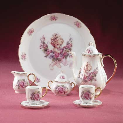 32198 Cherub Doll Tea Set
