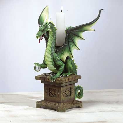 32200 Dragon Candle Holder Trinket Box