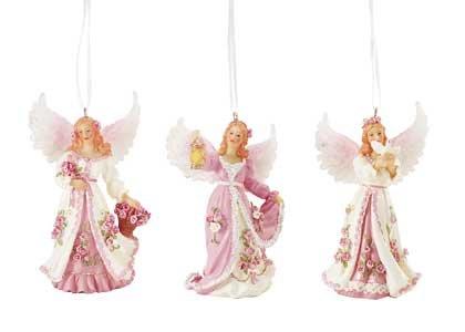 32376 Angel Xmas Ornaments Set of 3