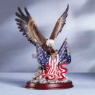 32419 Eagle Sculpture on Wood Base