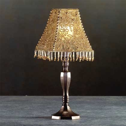32438 Beaded Lampshade Candle Lamp