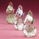 33041 9-Piece Ceramic Mini Cups and Saucers Set