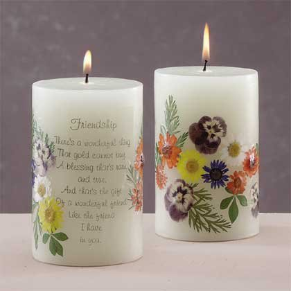 33079 Scented Candle - Friendship with Dried Flowers
