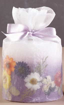 33082 Small Candle in Organza