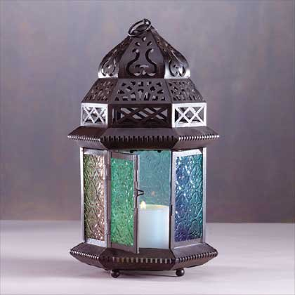 33144 Large Moroccan Style Candle Lantern