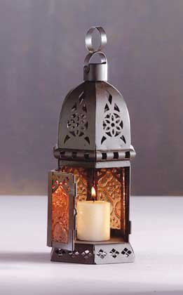 33145 Small Moroccan Style Candle Lantern