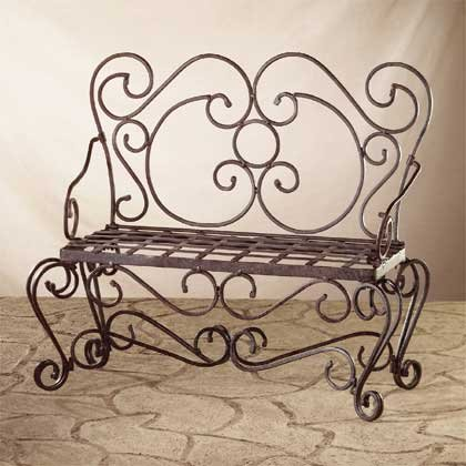 33212 Hammered Iron Garden Bench