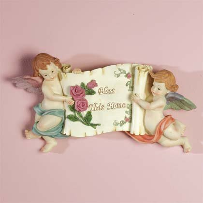 33222 Cherubs Bless This Home Plaque