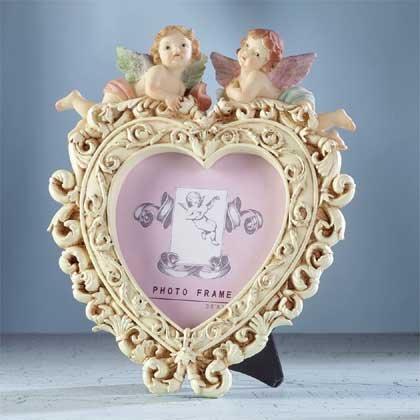 33223 Cherub Heart Shape Frame
