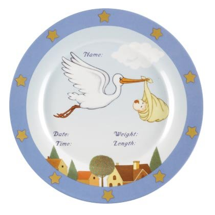 34824 Boy Birth Announcement Plate