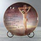 33243 Porcelain Patchwork Crucifixion Plate