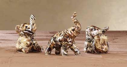 33259 Safari Patchwork Elephants (Set of 3)
