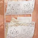 33264 Distressed White Metal Hanging Letter Holder