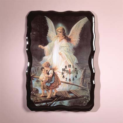 33283 Guardian Angel Wall Clock