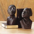 33294 Ebony-Look African Man, Woman Bookends