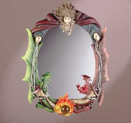 33562 Wizard and Dragons Wall Mirror