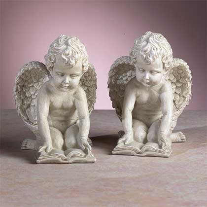 33570 Reading Cherubs Bookends