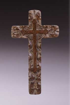 33603 Carved Antique-Finish Wall Cross