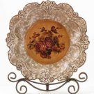 33625 Porcelain Antique-Finish Rose Plate