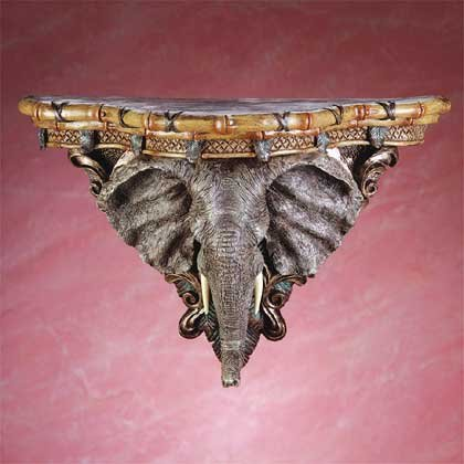 33678 Elephant Head Wall Shelf
