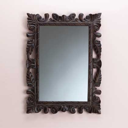 33680 Wood Carved Wall Mirror
