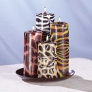 33726 Safari Candle Set