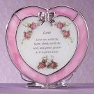 "33744 Heart-Shaped ""Love"" Plaque and Candle Holder"