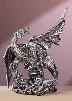 33759 Pewter Finish Dragon