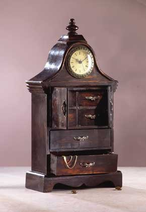 33764 Antique-Look Clock Cabinet
