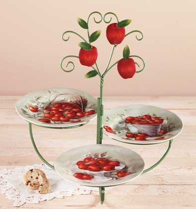 33765 Apple Plate Serving Set