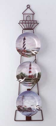 33768 Porcelain Lighthouse Plates Set