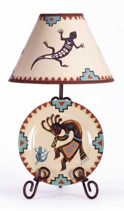 33771 Kokopelli Plate and Lamp Set