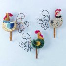 33775 Rooster Wall Hooks