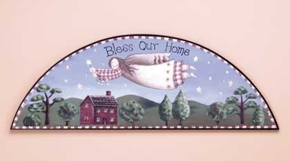 "33776 ""Bless Our Home"" Angel Door Crown"