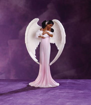33812 Angel Cradling Infant Figurine