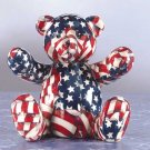 33824 American Flag Patchwork Teddy Bear Bank