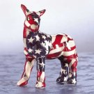 33839 Mini American Flag Patchwork Donkey
