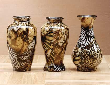 33847 Mini Safari Patchwork Vases
