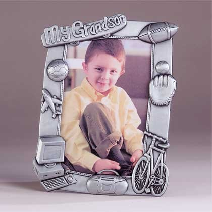 "33862 Pewter ""My Grandson"" 4x6 Frame"