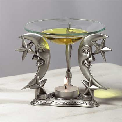 33866 Pewter Celestial Oil Warmer