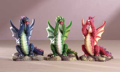 33915 See, Hear, Speak No Evil Dragons
