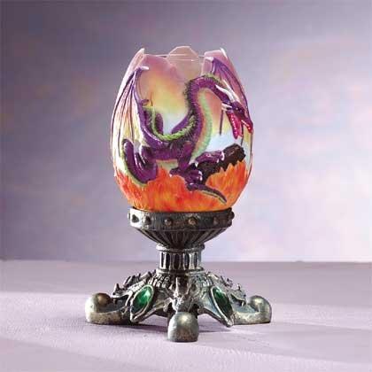 33916 Alab Dragon Egg Candle Holder