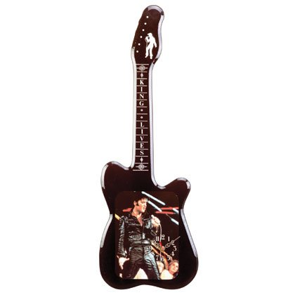33921 Guitar-Shaped Elvis Wall Clock