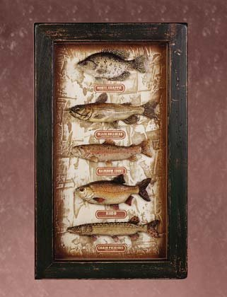 33936 Fish Shadow Box
