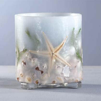 34042 Seashell Hurricane Lantern